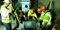 Mr. Rehab sewer rehabilitation crew on the job.